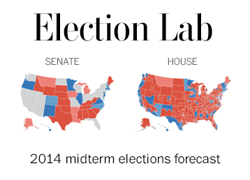 2014 Midterm Election Results Map