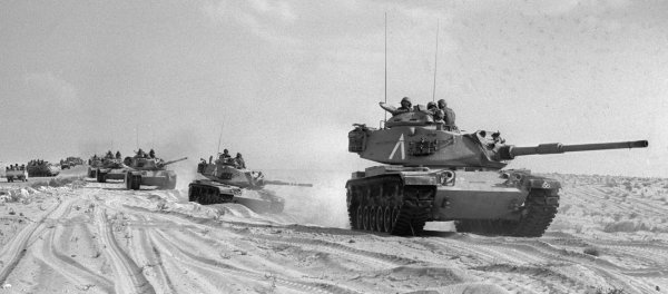 Israel Rolls Tanks in 1973 Arab-Israeli War.